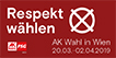 Respekt wählen- AK Wien Wahl 2019