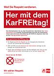 Her mit dem KarFREItag - Flugblatt AK Wien Wahl 2019