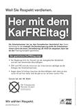 Her mit dem KarFREItag - Flugblatt AK Wien Wahl 2019 in schwarz/weiß